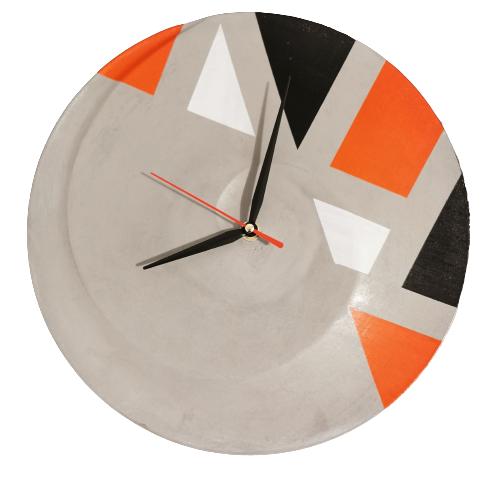 Ceas de perete portocaliu
